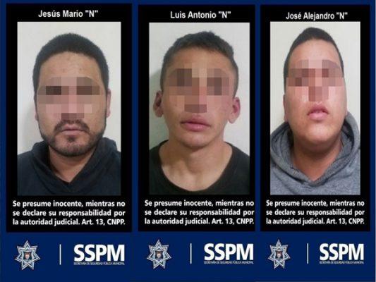 Detienen a tres hombres confusilesde asalto