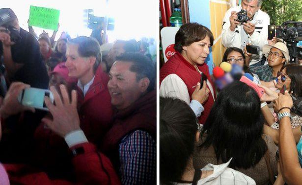 Del Mazo ofrece seguridad en Atlacomulco; Delfina se queja de guerra sucia