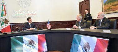 México negociará con firmeza intereses propios: EPN a Tillerson y Kelly