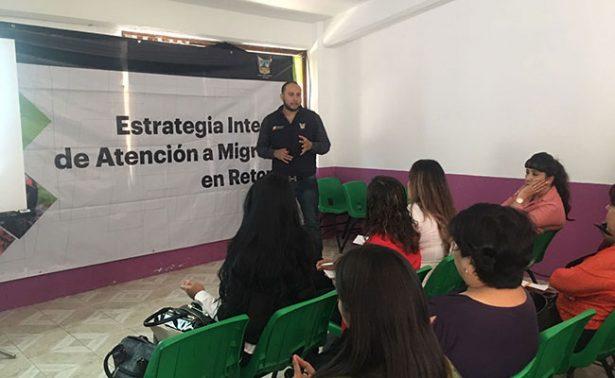 Migrantes repatriados  reciben atención en Hidalgo