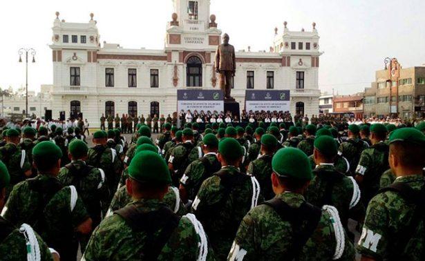 Llega Policía Militar a Veracruz para reforzar seguridad
