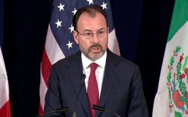 """""""Amenaza"""" de Trump es su muy particular estilo para negociar: Videgaray"""