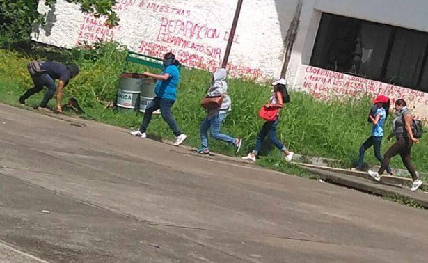 Encapuchados causan destrozos y psicosis en Tapachula