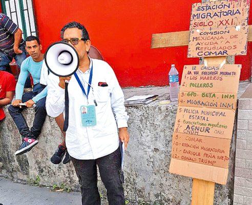 Activistas y migrantes inician viacrucis en Tapachula