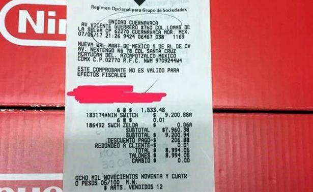 """Tienda """"remata"""" por error consolas Nintendo Switch ¡por solo 1500 pesos!"""