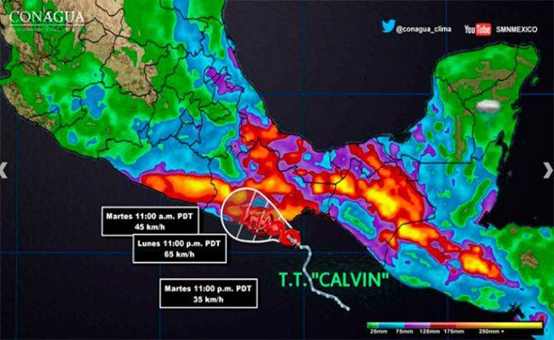 """Activan """"Plan Marina"""" ante riesgo de Tormenta Tropical Calvin"""