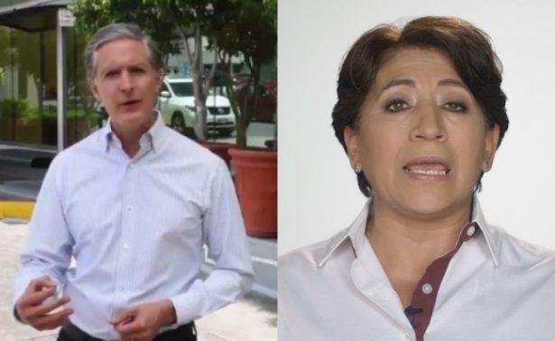 Del Mazo agradece a mexiquenses y Delfina pide a INE defender su voto