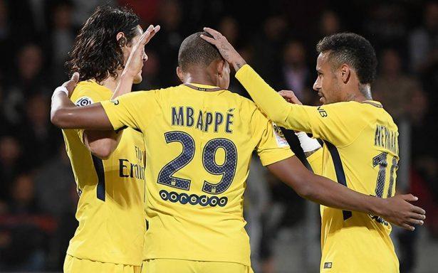 Mbappé completó el tridente del Saint Germain