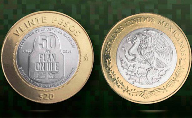 Lanzan moneda de 20 pesos que conmemora 50 años del Plan DN-III-E