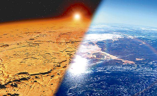 Viento solar convirtió a Marte en un planeta seco y frío