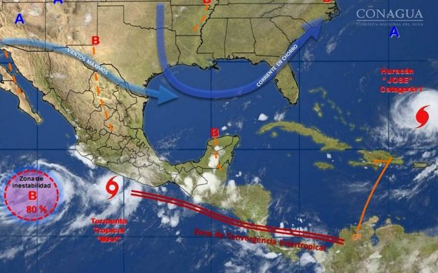 Max ocasionará tormentas intensas en Michoacán, Guerrero y Oaxaca