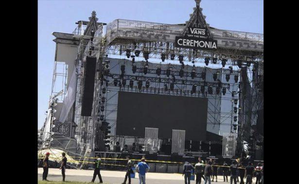Por fuertes vientos cancelan el festival Ceremonia