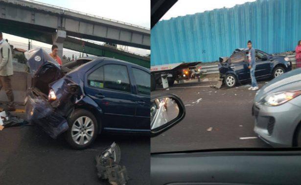 Caos en la México-Puebla por carambola de 14 autos