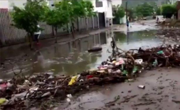 Intensa lluvia deja afectaciones en colonias de Guerrero
