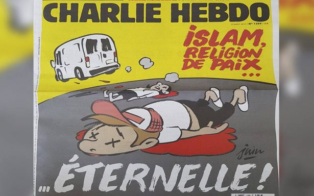 Critican la polémica portada de Charlie Hebdo tras ataques en Barcelona