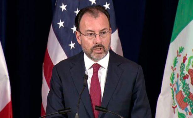 Canciller Luis Videgaray realizará visita de trabajo a Washington en próximos días