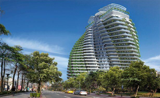 """La torre Tao Zhu Yin Yuan, el edificio que """"come"""""""