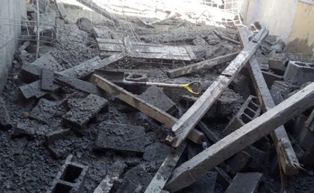 Colapsa finca en construcción en Aguascalientes