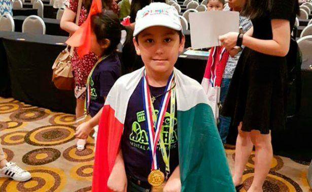 ¡Niño genio! Mexicano gana campeonato internacional de cálculo mental en Malasia