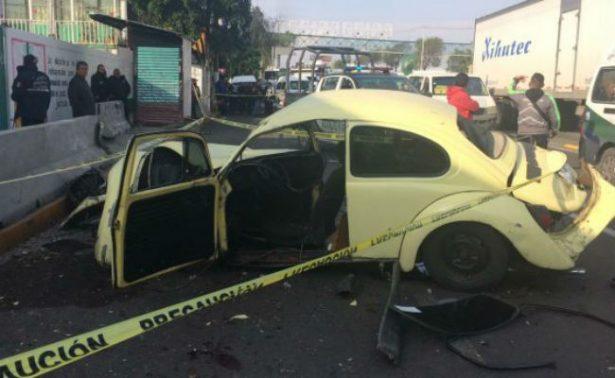 Muere un estudiante en accidente automovilístico en la Vía Morelos