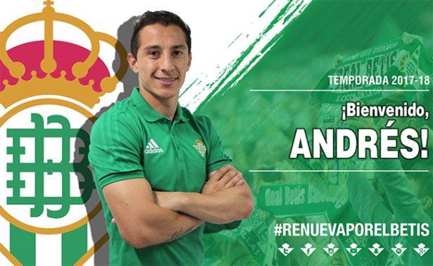 Andrés Guardado ya es nuevo jugador del Betis