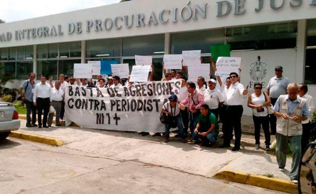 Protestan periodistas por agresiones en Veracruz