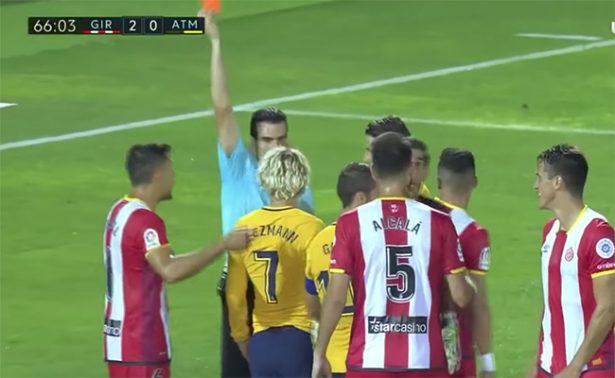 "Expulsan a Griezmann por gritar ""¡eres un cagón!"" al árbitro"