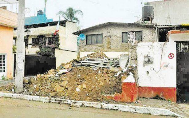 Afectadas, 178 casas en Cuajimalpa