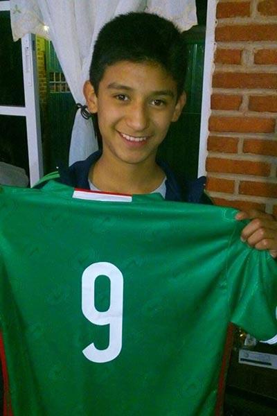 Ricardo Perezarate y Sánchez es uno de los tlaxcaltecas que forma parte del selectivo que participará en el Cuarto Torneo Internacional de Futbol de Menores, celebrado en Perú. / Antonio GUARNEROS
