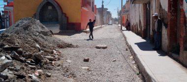 Exigen que ayuntamiento culmine obra en El Calvario en Calpulalpan