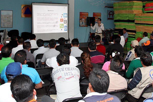 Gobierno de Tlaxcala orienta a  las familias en protección civil