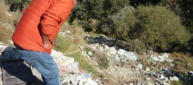 Despeñaderos de Contla se convierten en basureros y tiraderos de escombros