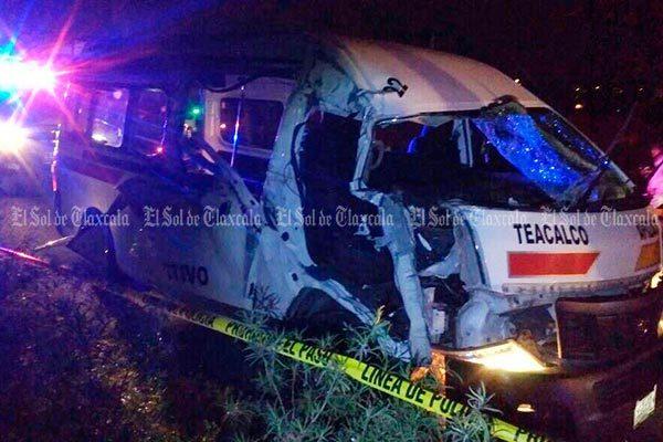 Choque entre colectiva y  camión recolector deja  siete heridos; dos graves