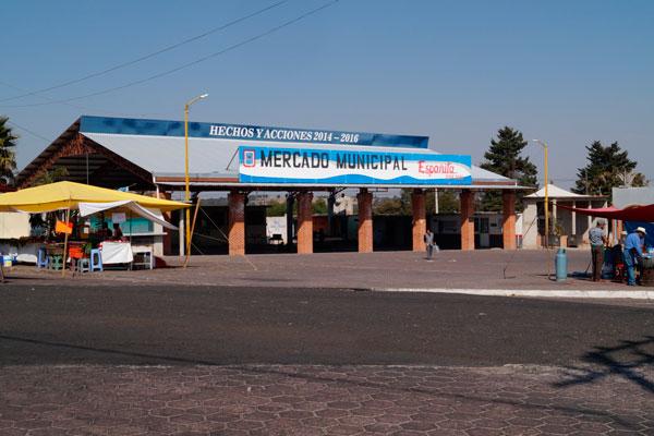 Así luce actualmente el mercado municipal de Españita
