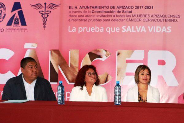 Inicia prevención contra el cáncer cérvico uterino en Apizaco