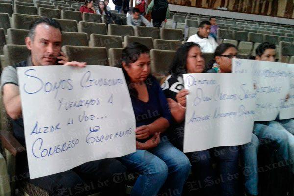 Agilizará Congreso las protestas por desabasto de agua potable en Yauhquemehcan