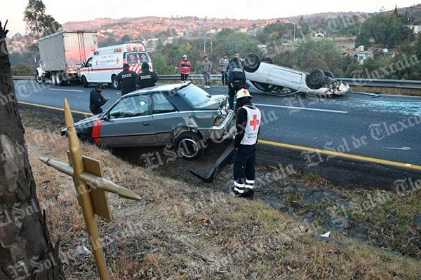 Un lesionado deja accidente en la Apizaco-Tlaxcala