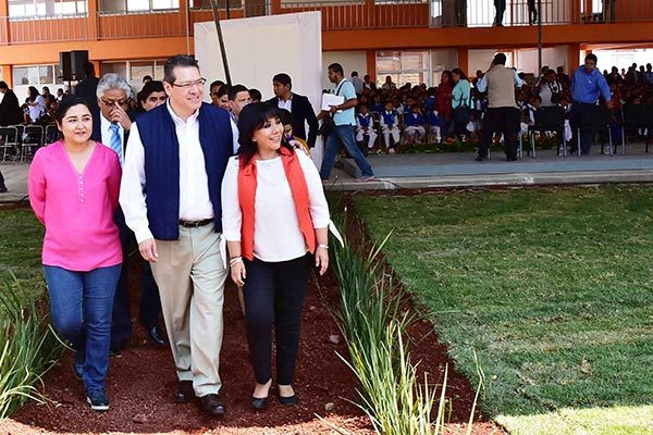 Después de tres años, entregan edificio nuevo a primaria Salamanca