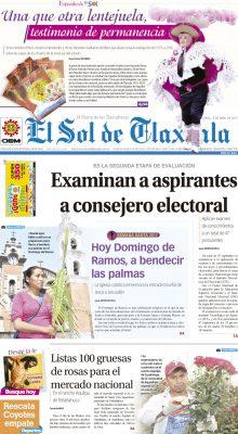 El Sol de Tlaxcala 9 de abril de 2017