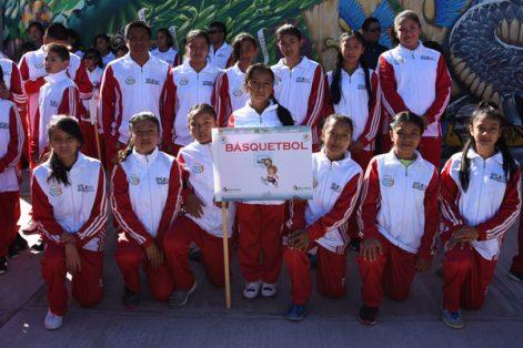 La delegación de basquetbol. / Everardo NAVA