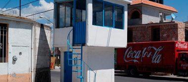 En el abandono, módulos de vigilancia en fraccionamientos de Calpulalpan