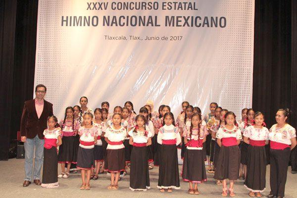 Organiza Sepe XXXV concurso estatal de interpretación del himno nacional