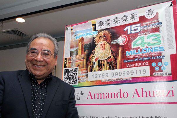 Presenta ITC sorteo de la Lotería Nacional con obra del maestro Armando Ahuatzi