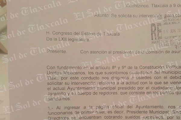 Incumple ayuntamiento de Xicohtzinco acuerdos para disminuir sus sueldos