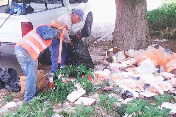 Recolecta ayuntamiento de la capital 70 toneladas de basura