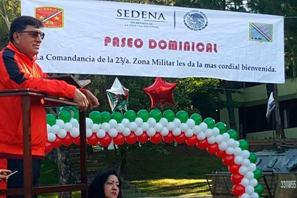 Realiza 23ª Zona Militar paseo dominical en sus instalaciones