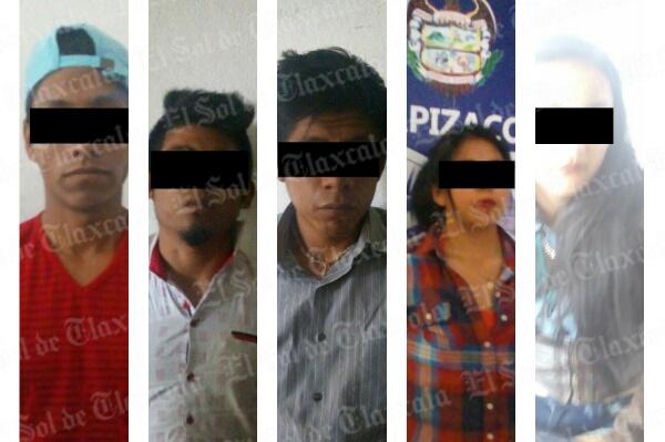 Detienen a cinco personas en Apizaco por portación de armas