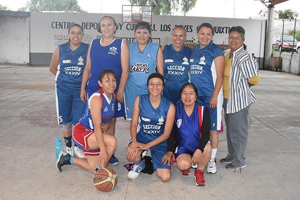Celebran interdependencias de basquetbol en Los Reyes
