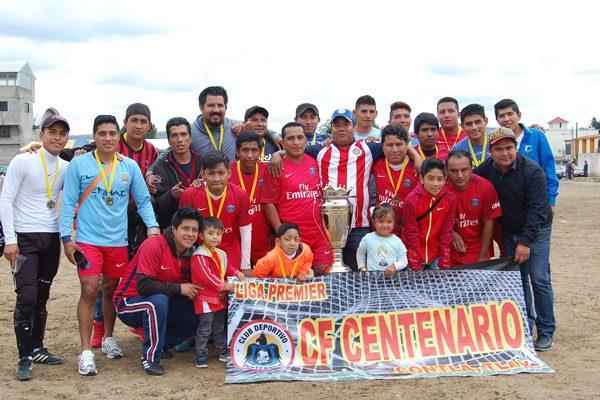 Gana Centenario campeonato  de la liga Premier de Contla