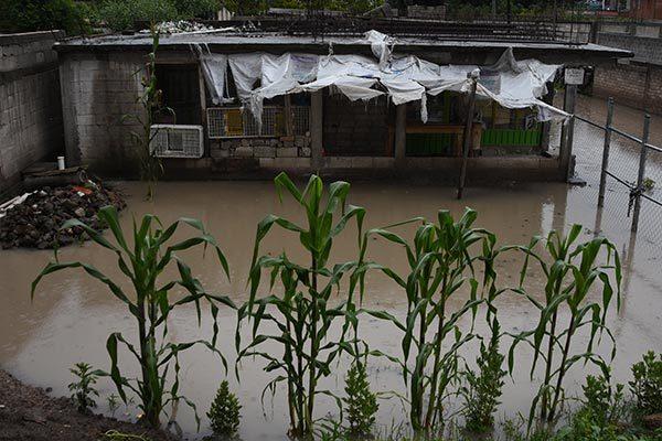 Pegó fuerte la lluvia a 10 municipios de la entidad
